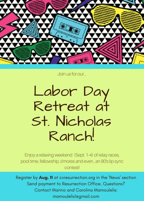 Sign up for...Labor Day Family Retreat!
