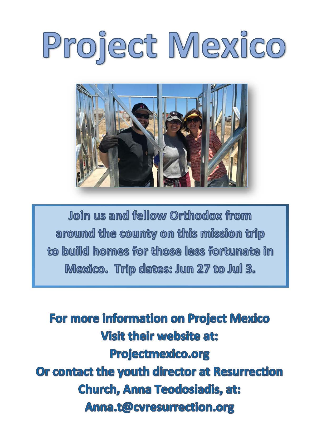 Project Mexico flyer