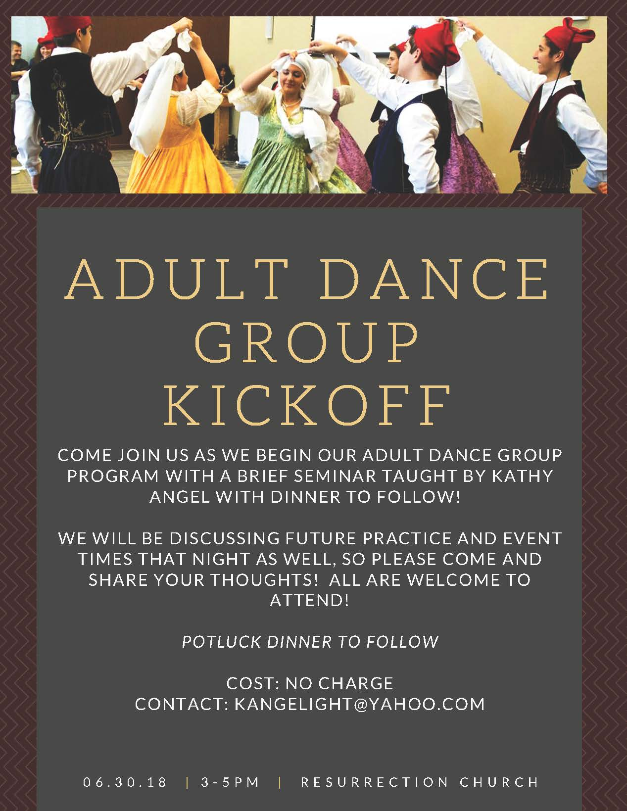 Adult Dance Group Kickoff